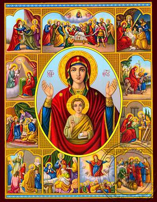 Theotokos Life Images - Nazarene Art Icon