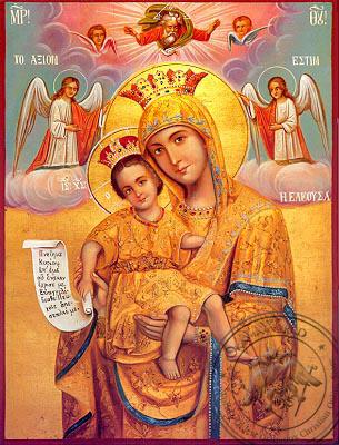 Virgin and Child, Merciful, Axion Esti (It Is Truly Meet) - Nazarene Art Icon