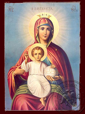 Virgin and Child, Queen of the Universe - Nazarene Art Icon
