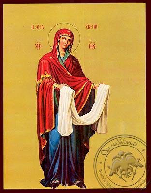 Virgin, Skepe (Protection), Full Body - Nazarene Art Icon