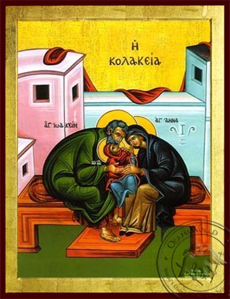 Affection For the Virgin - Byzantine Icon