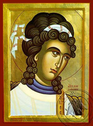 Angel Deacon, Bust - Byzantine Icon