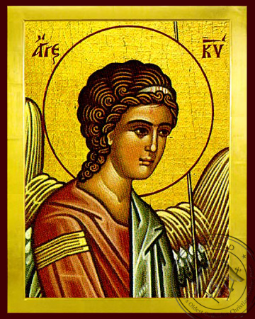 Angel of the Lord, Detail (Left) - Byzantine Icon