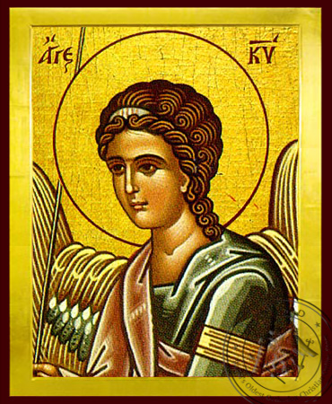 Angel of the Lord, Detail (Right) - Byzantine Icon