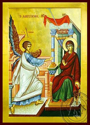 Annunciation (Salutation) - Byzantine Icon