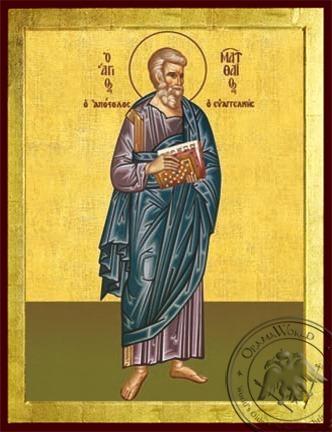 Apostle and Evangelist Saint Matthew Full Body - Byzantine Icon
