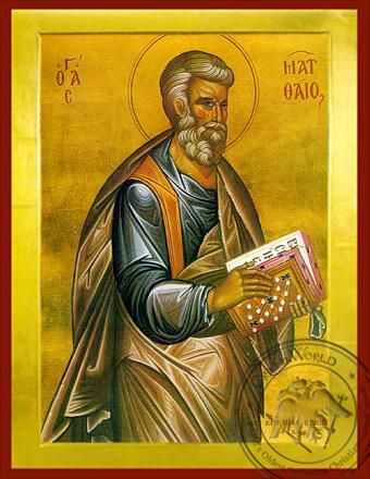 Apostle and Eyangelist Saint Matthew - Byzantine Icon