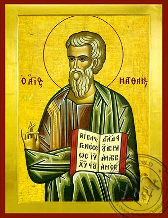 Matthew the Apostle and Evangelist - Byzantine Icon