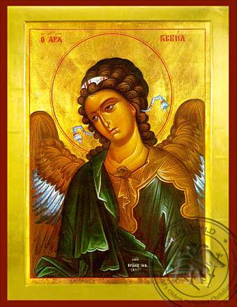 Archangel Gabriel, Bust - Byzantine Icon
