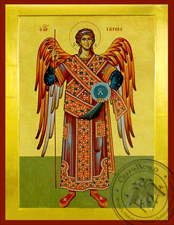 Archangel Gabriel, Full Body - Byzantine Icon