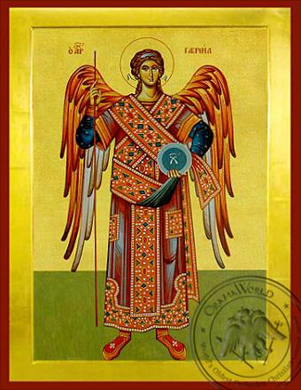 Archangel Gabriel, Full Body - Byzantine Icon