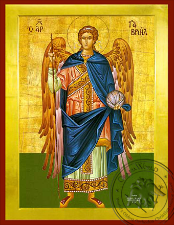 Gabriel Archangel Full Figure - Byzantine Icon