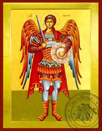 Archangel Michael, Full Body - Byzantine Icon