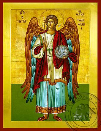Michael Archangel Full Figure - Byzantine Icon