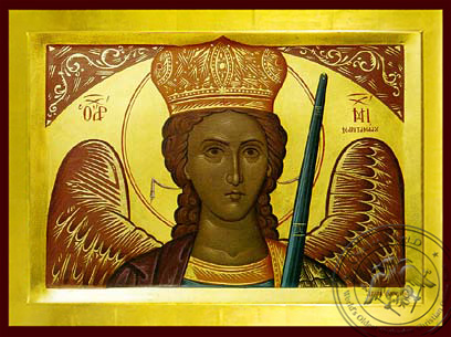 Archangel Michael of Mantamadon, Bust - Byzantine Icon