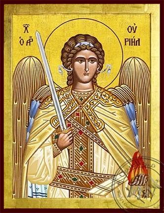 Archangel Uriel - Byzantine Icon