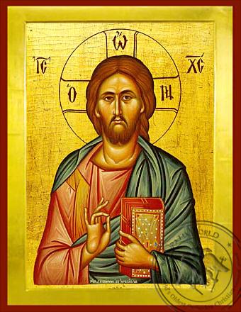 Christ Blessing - Byzantine Icon
