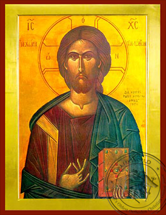 Christ Blessing, Land of the Living - Byzantine Icon