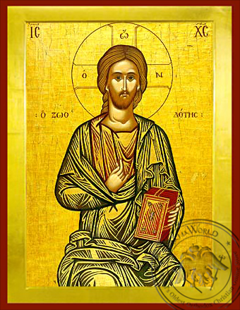 Christ Blessing, the Life-Giver - Byzantine Icon