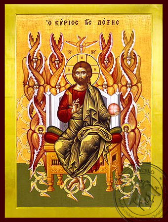 Christ Blessing, Lord of Glory, Enthroned - Byzantine Icon