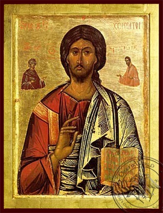 Christ Blessing Pantocrator - Byzantine Icon