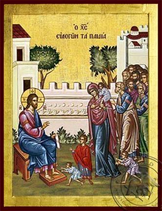 Christ Blessing the Children - Byzantine Icon