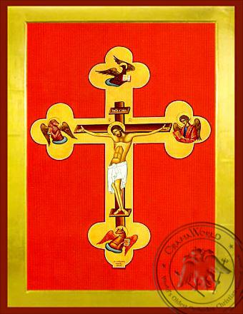 Christ Crucified - Byzantine Icon