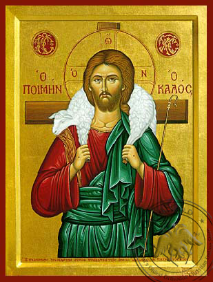 The Good Shepherd - Byzantine Icon