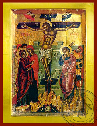 Crucifixion - Byzantine Icon