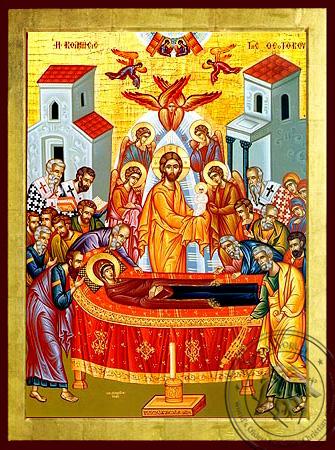 Dormition of Theotokos - Byzantine Icon