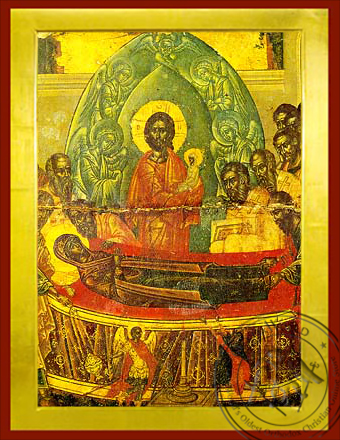 Dormition of Theotokos, Detail - Byzantine Icon