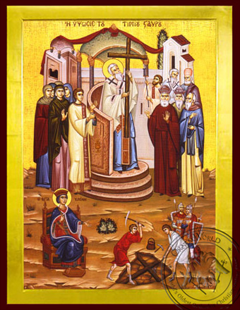 Exaltation and Finding of the Holy Cross - Byzantine Icon