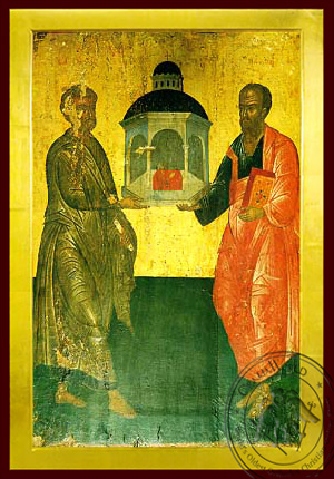 Holy Apostles Peter and Paul, Full Body - Byzantine Icon