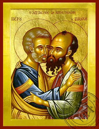 Peter and Paul the Apostles - Byzantine Icon