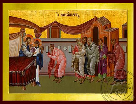 Holy Communion of Wine - Byzantine Icon