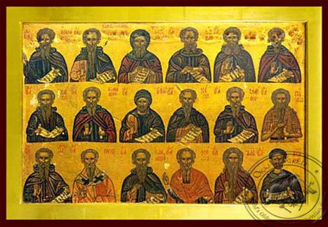 Holy Hermits - Byzantine Icon