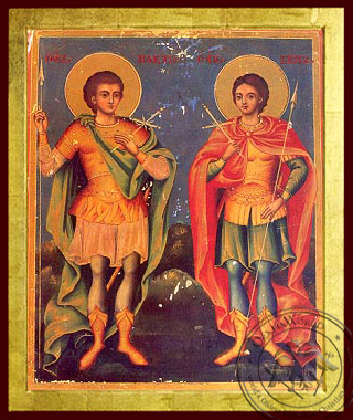 Holy Martyrs Sergios & Vakhos - Byzantine Icon