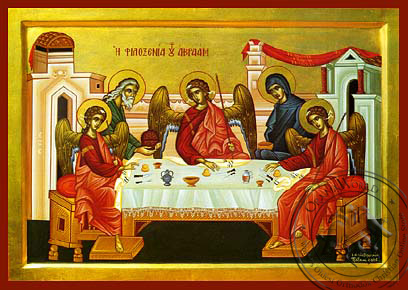 The Hospitality of Abraham - Byzantine Icon