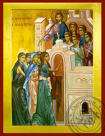 Parable of the Ten Virgins - Byzantine Icon