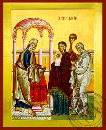 Presentation of Christ in the Temple - Byzantine Icon