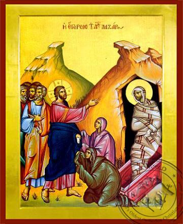 The Raising of Lazarus - Byzantine Icon