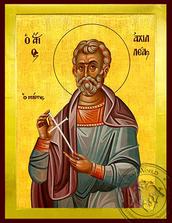 Saint Achilleas in Thrace, Martyr - Byzantine Icon