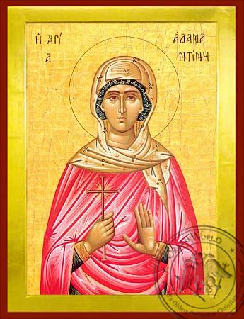 Saint Adamantini - Byzantine Icon