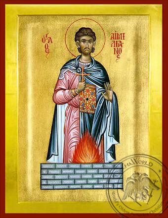 Saint Aemilian - Byzantine Icon