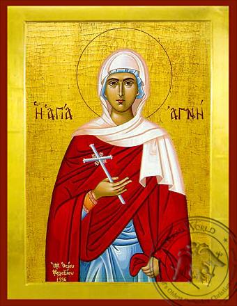 Saint Agni - Byzantine Icon