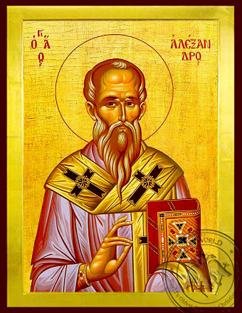 Saint Alexander, Patriarch of Constantinople - Byzantine Icon