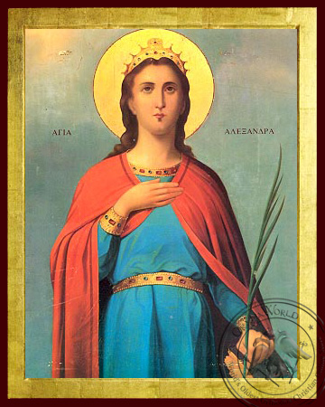 Saint Alexandra - Byzantine Icon