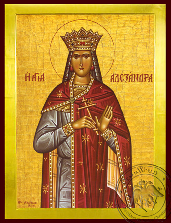 Saint Alexandra, Martyr, the Empress, Wife of Diocletian - Byzantine Icon