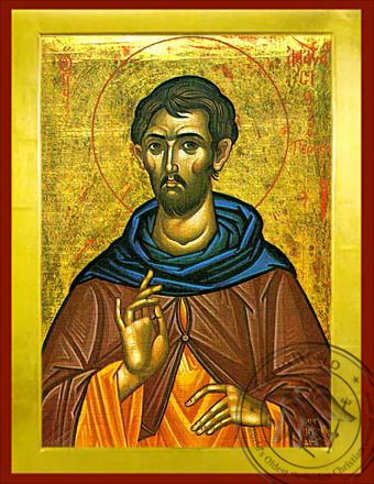 Saint Anastasius Monk-Martyr, the Persian - Byzantine Icon