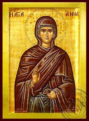 Saint Anne - Byzantine Icon